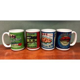 Seafood Label Mug - Anchovies