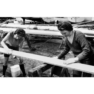 Women Sanding a Board, 1964