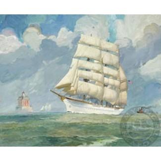 1007818 U.S.C.G. BARQUE EAGLE s/n Lithograph