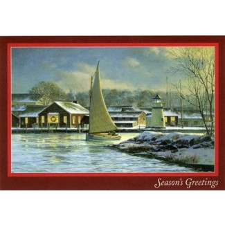 Mystic Seaport Catboat Christmas Cards