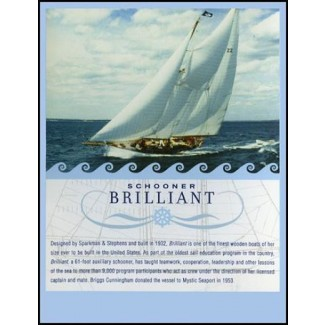 Sailing playing cards: Schooner BRILLIANT