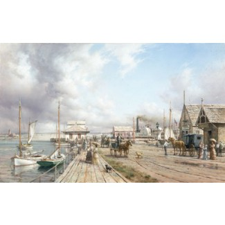 STEAMBOAT WHARF, NANTUCKET by Dusan Kadlec