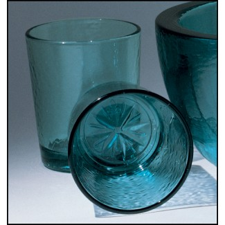 Teal Compass Rose Tumblers, Set of 4