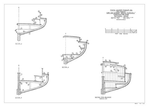 BRECK MARSHALL, Cape Cod Catboat | Mystic Seaport Ships Plans