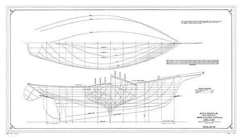 ESTELLA A., Friendship Sloop | Mystic Seaport Ships Plans