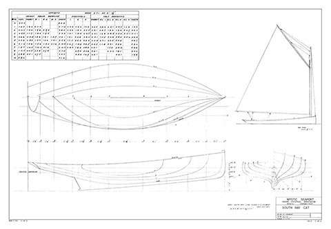 Great South Bay Catboat | Mystic Seaport Ships Plans