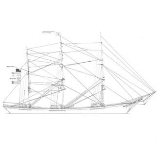 BENJ. F. PACKARD, Full Rigged Ship (Model)